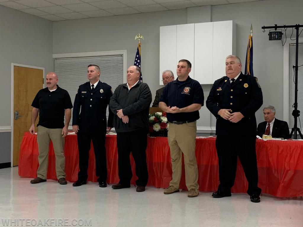 President C. Cooper, Vice President C. Thompson, Treasurer S. Teter, Secretary D. Guinn, Fire Chief R. Martin