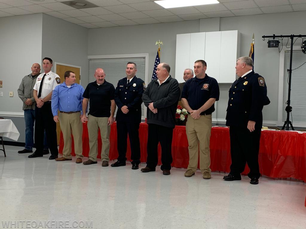 Board Members B. Harper, K. Fines, J. Davis  Pres. C. Cooper, VP C. Thompson, Tres. S. Teter, Sec. D. Guinn, Fire Chief R. Martin